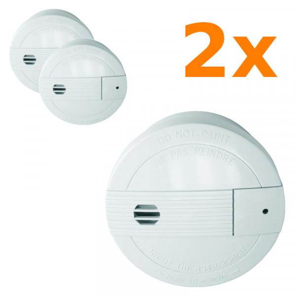 2 Rauchmelder mit Funksendern für 24 Stunden Schutz Smartwares SA68B