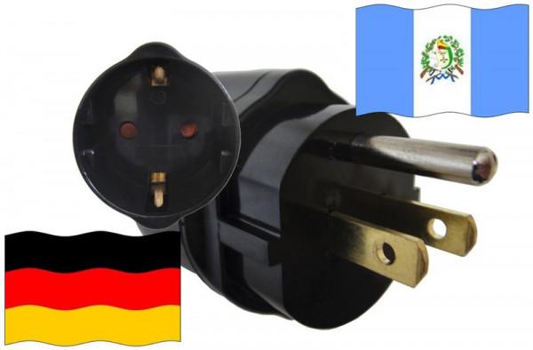 Urlaubsadapter Guatemala für Geräte aus Deutschland