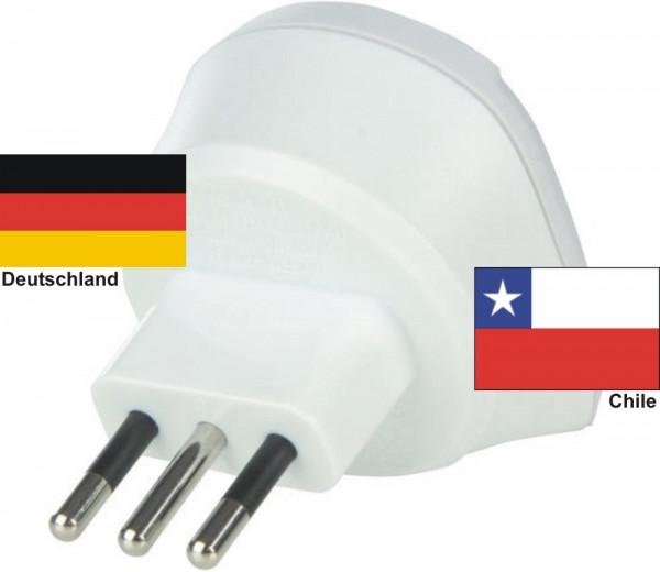 Reiseadapter Chile auf Deutschland Skross Reisestecker 1.500212