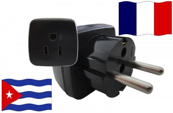 Urlaubsstecker Frankreich für Geräte aus Kuba