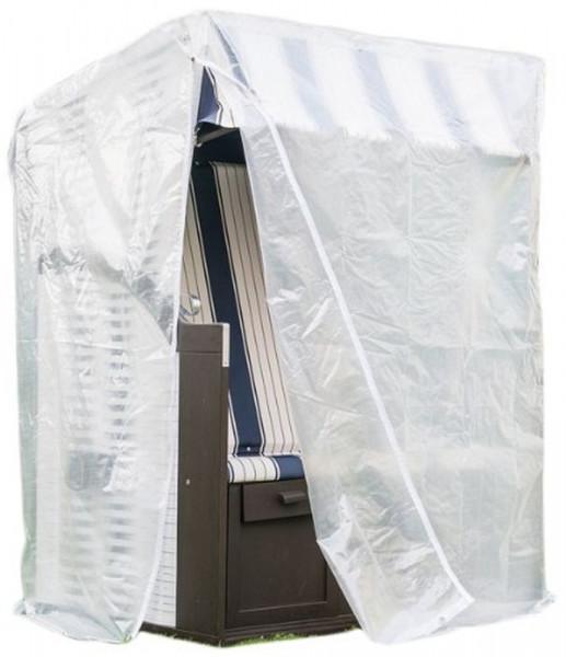 Regenschutz für Strandkörbe mit Reißverschluss Regenhaube transparent