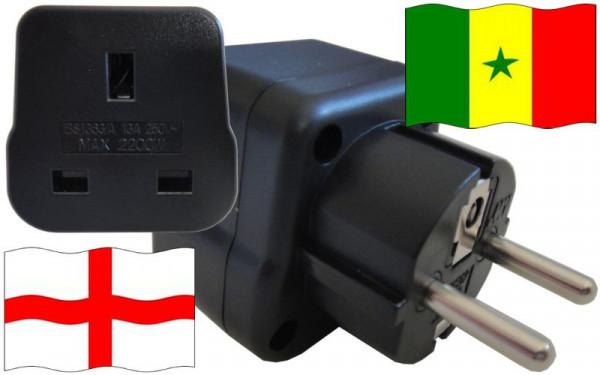 Reiseadapter Senegal für Geräte aus England