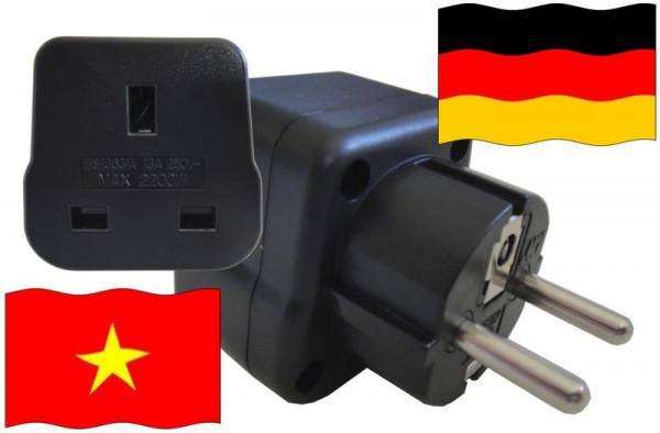 Urlaubsstecker Deutschland für Geräte aus Vietnam