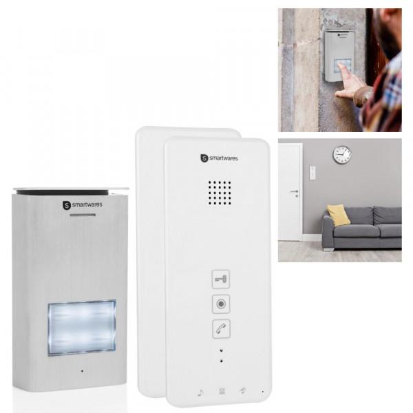 Gegensprechanlage mit zwei Inneneinheiten Smartwares DIC-21122