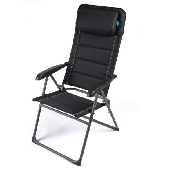 Komfortabler Camping Hochlehner 150 Kg mit verstellbarer Rückenlehne + Kissen FT0300 (S)