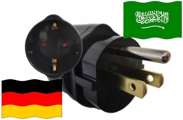 Urlaubsadapter Saudi Arabien für Geräte aus Deutschland