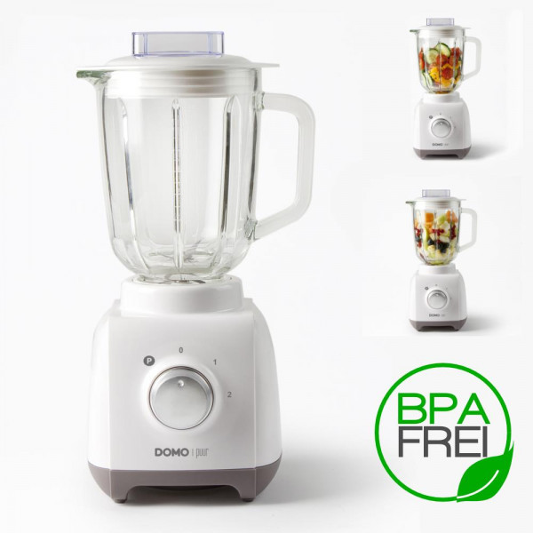 Power Standmixer 1,5 Liter Glaskrug, Pulse-Funktion BPA-frei Domo DO703BL