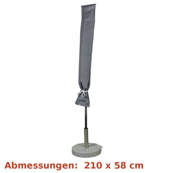 Deluxe Schutzhülle für Sonnenschirm 250 - 450cm grau Happy People 79333