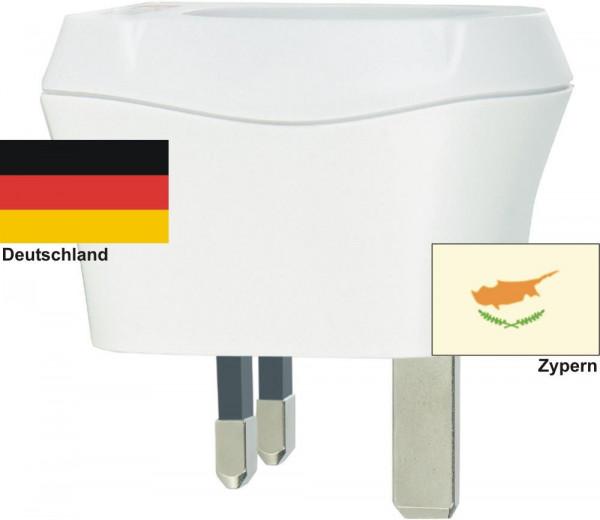 Reiseadapter Zypern auf Deutschland Skross 1.500230 Reisestecker