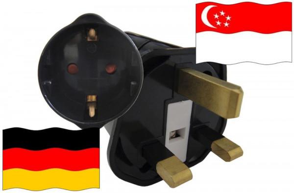 Urlaubsstecker Singapur für Geräte aus Deutschland