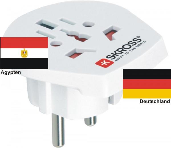 Reiseadapter Deutschland auf Ägypten - Skross 1.500211 Reisestecker