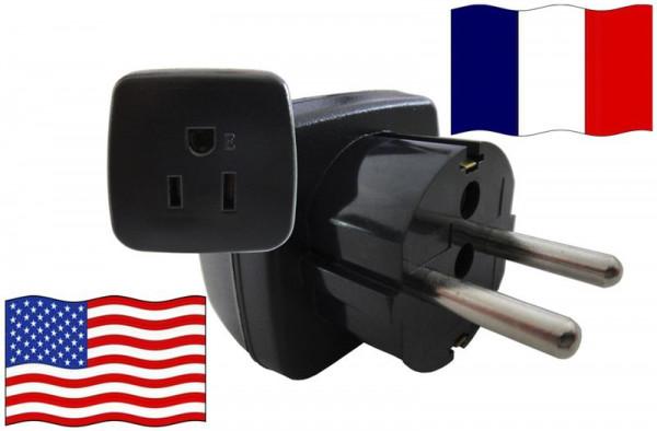 Urlaubsstecker Frankreich für Geräte aus USA