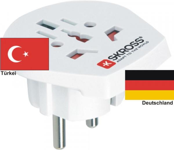 Reiseadapter Deutschland auf Türkei Skross 1.500211 Reisestecker
