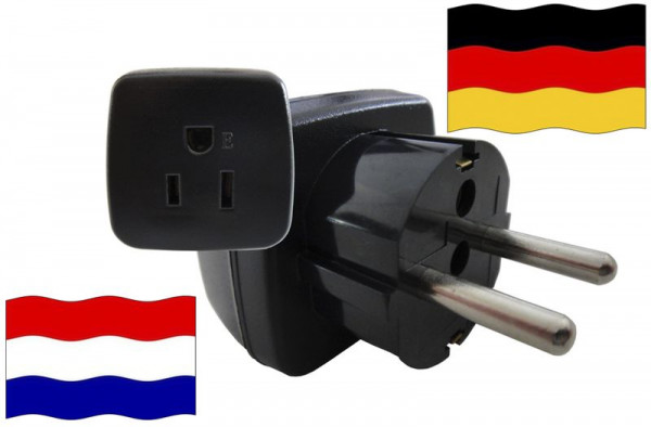 Urlaubsstecker Deutschland für Geräte aus Niederlande