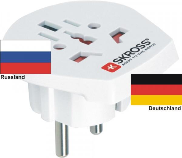 Reiseadapter Deutschland auf Russland Skross 1.500211 Reisestecker