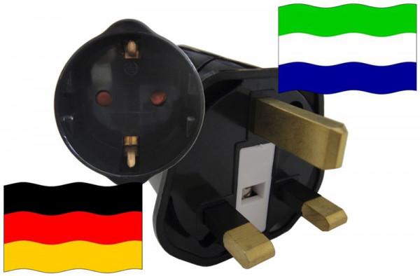 Urlaubsstecker Sierra Leone für Geräte aus Deutschland