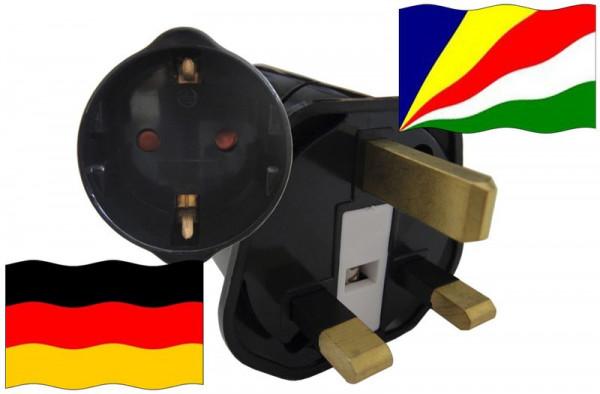 Urlaubsstecker Seychellen für Geräte aus Deutschland