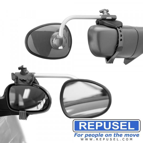 Caravanspiegel Alufor, Arm kurz, zusätzlicher Autospiegel Repusel 3000