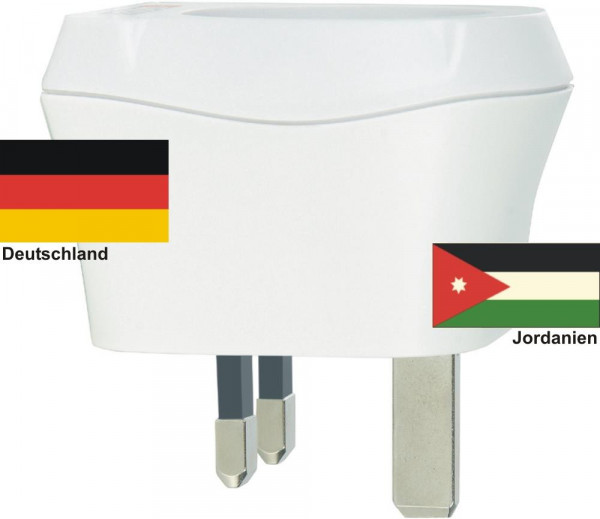 Reiseadapter Jordanien auf Deutschland Skross 1.500230 Reisestecker