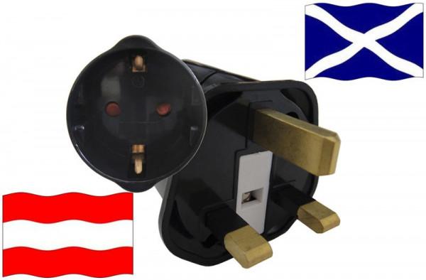 Urlaubsstecker Schottland für Geräte aus Österreich