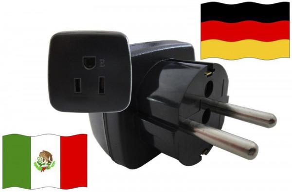Urlaubsstecker Deutschland für Geräte aus Mexiko