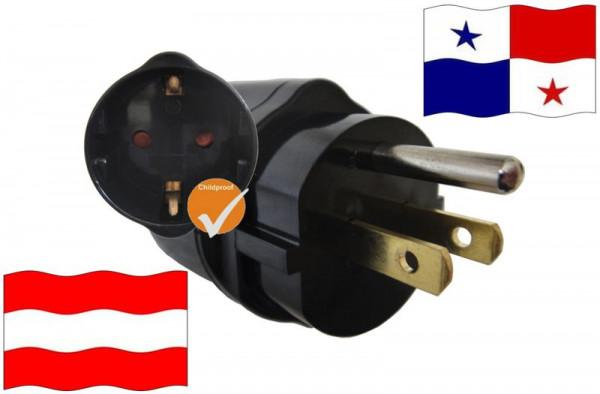 Urlaubsadapter Panama für Geräte aus Österreich