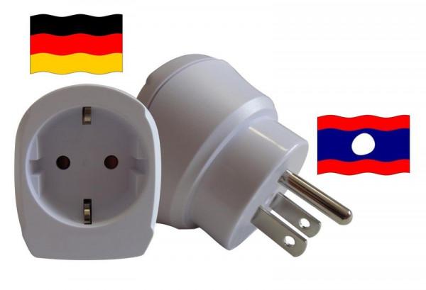 Reiseadapter für Laos 1.500203 Steckeradapter für Geräte aus Deutschland