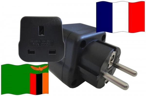 Urlaubsstecker Frankreich für Geräte aus Sambia