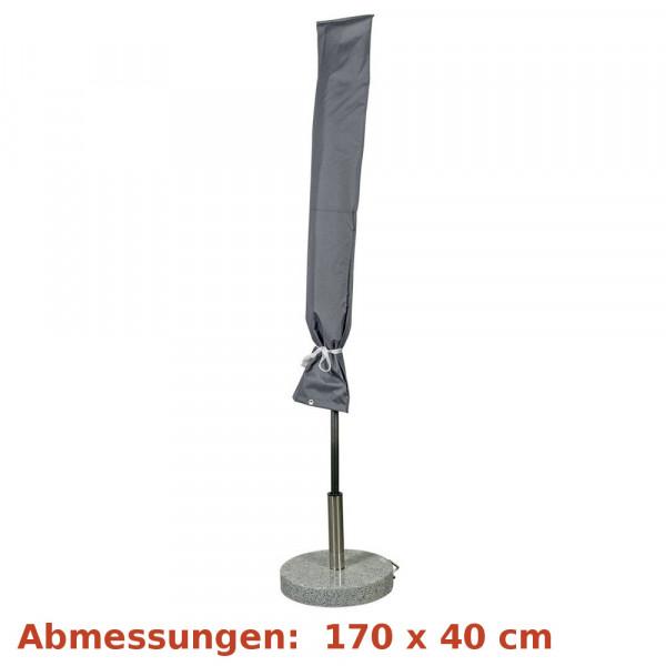 Deluxe Schutzhülle für Sonnenschirm 300cm grau Happy People 79338