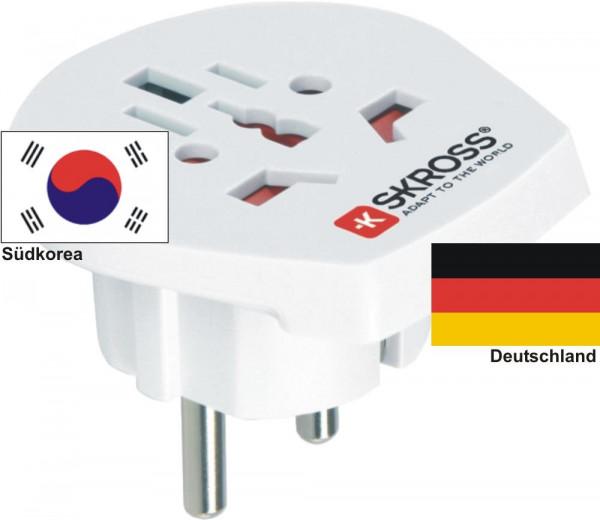Reiseadapter Deutschland auf Südkorea - Skross 1.500211 Reisestecker