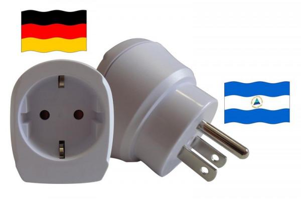Reiseadapter für Nicaragua. Steckeradapter für Geräte aus Deutschland