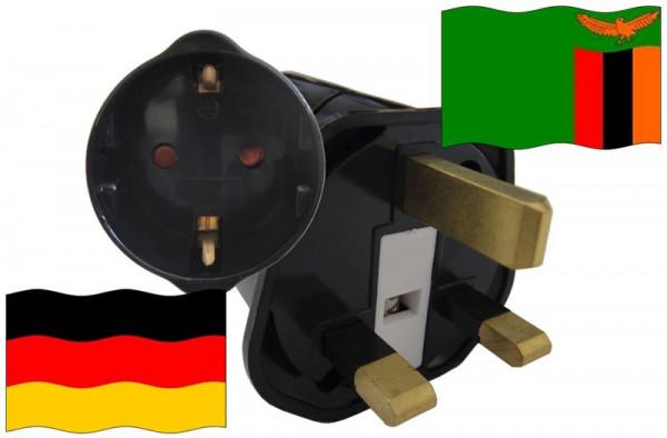 Urlaubsstecker Sambia für Geräte aus Deutschland