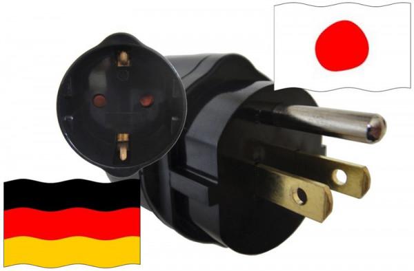 Urlaubsadapter Japan für Geräte aus Deutschland