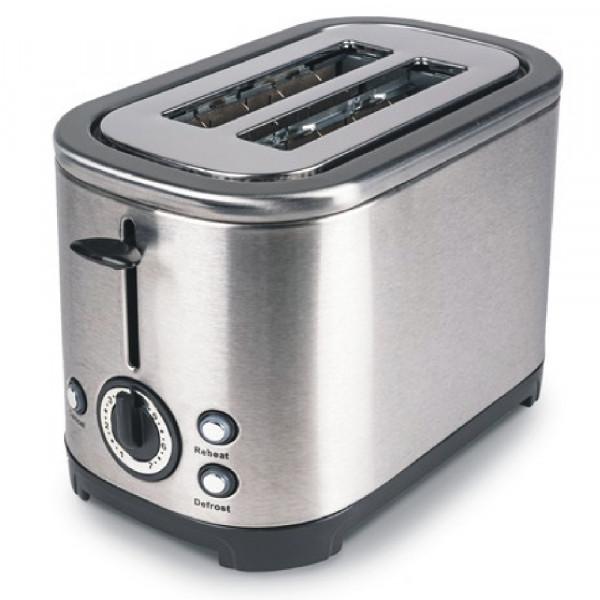 Stilvoller 2 Schlitz Edelstahl Toaster Kampa Deco ME0580E silber