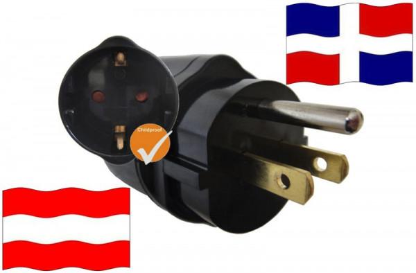 Urlaubsadapter DomRep. für Geräte aus Österreich
