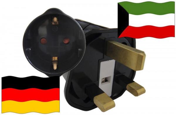 Urlaubsstecker Kuwait für Geräte aus Deutschland
