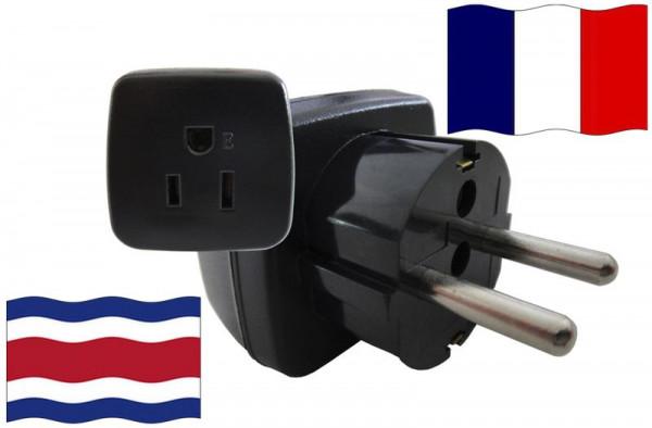 Urlaubsstecker Frankreich für Geräte aus Costa Rica