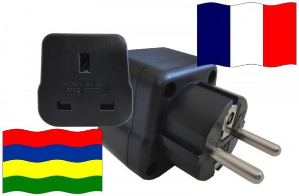 Urlaubsstecker Frankreich für Geräte aus Mauritius