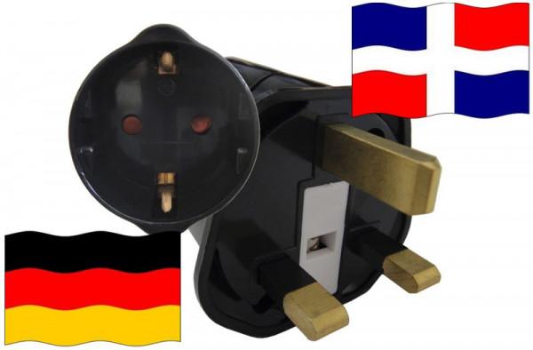 Urlaubsstecker DomRep. für Geräte aus Deutschland